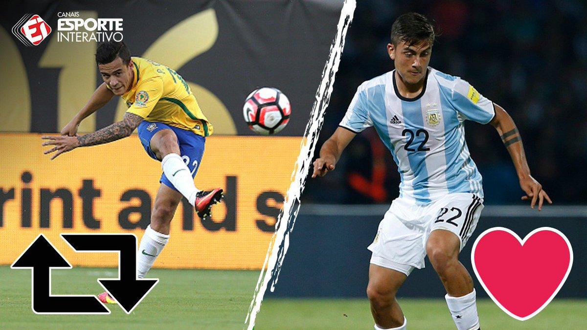 Dois CRAQUES que dividem o protagonismo com estrelas como Neymar e Messi. Mas e aí, na sua opinião quem é melhor? RT = Coutinho  ❤️ = Dybala