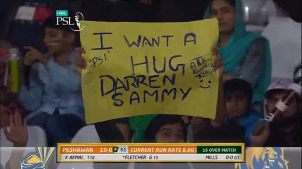 The appreciation for Darren Sammy in Pak...