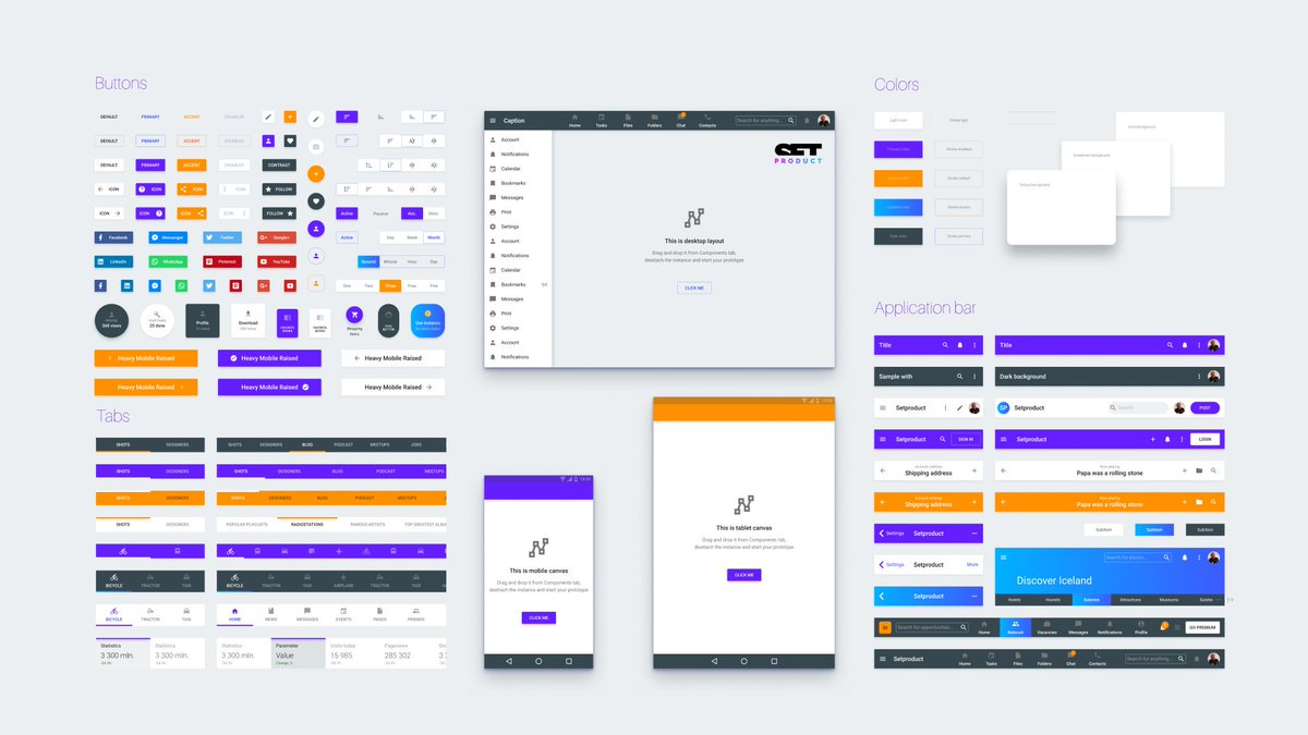 Roman Kamushken On Twitter 1682 Components Total As Team Library For Figma Https T Co Ogforngu8v This Material Design System Is Dedicated To Accelerate Your Business And Speed Up The Development Time Materialui Uidesign Uikit