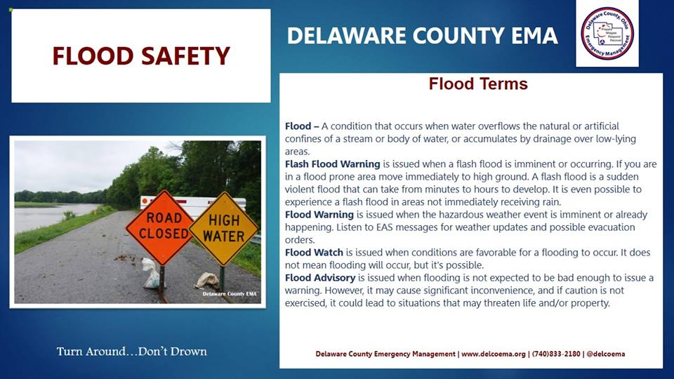 Flood Terms Flood – A condition that occurs when water overflows the natural or artificial confines of a stream or body of water or accumulates by drainage over low-lying areas. #Flash Flood Warning #Flood Warning #Flood Watch #Flood Advisory Click the pic! #SWAW #delcoema<br>http://pic.twitter.com/K7RMeJCknp