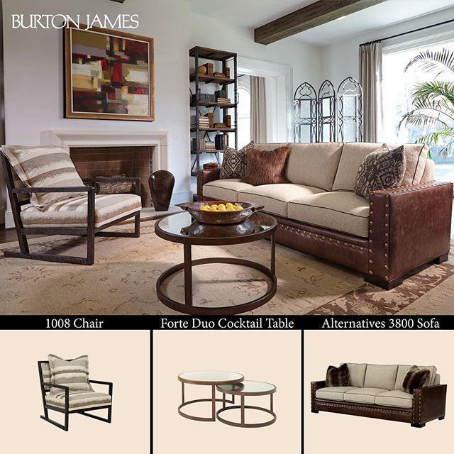 Cozy Up With Burton James. . . . . #BurtonJamesInc #HouseTour #CozySpaces  #CasualElegance #ComfortIsStyle #USAMade #CurrentDesignSituation #Design ...
