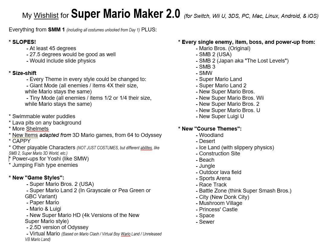 Dear Mario Makers on Twitter: