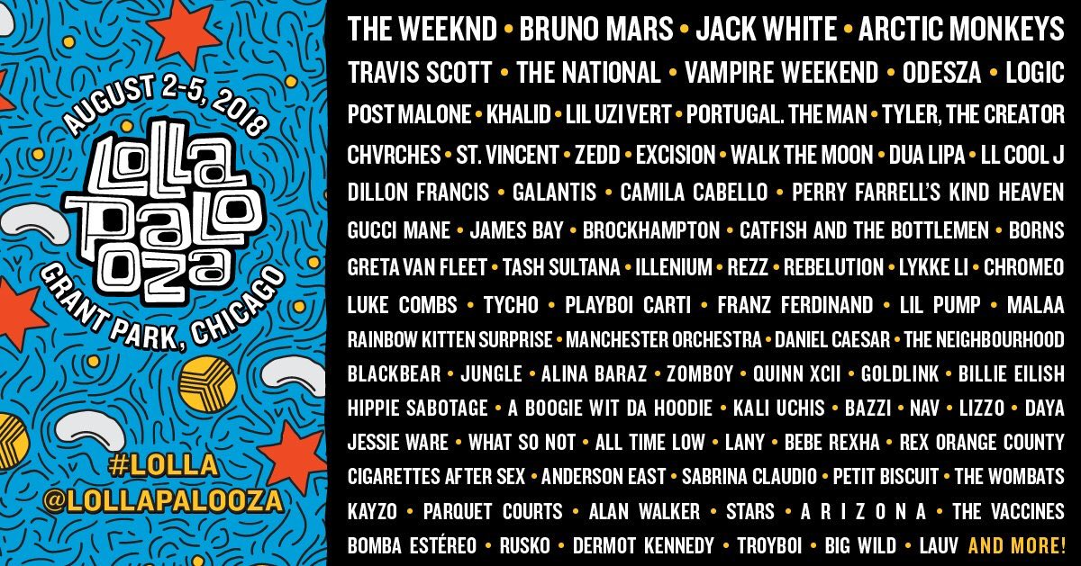 i'm playing @lollapalooza!!!! can't wait to see u guys in chicago this summer, so excitiiiiiiiiing💜💜💜https://t.co/EPiojm9LFK