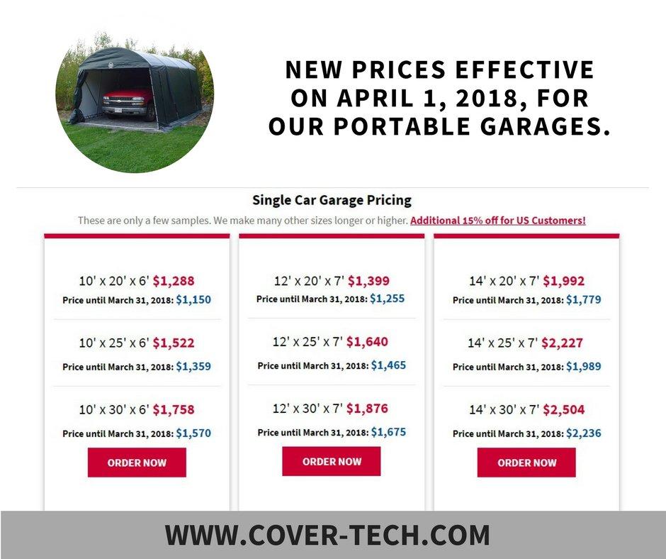 Detail Is On Our Website: Http://www.cover Tech.com #shed #carport #garage  #portablegarage #garagekits #cargarage #shelter #forsale #price  #boatshelter ...