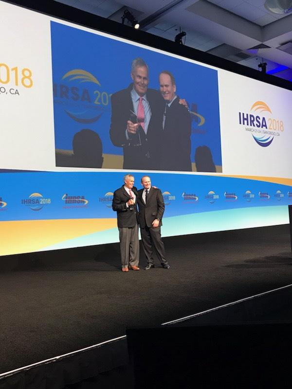Congrats to Art Curtis, Ph.D., President, Curtis Club Advisors, who received the Dale S. Dibble Distinguished Service Award! #IHRSA2018