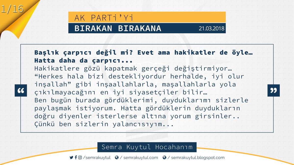 Semra Kuytul Hocahanım'ın 'Ak Parti'yi B...