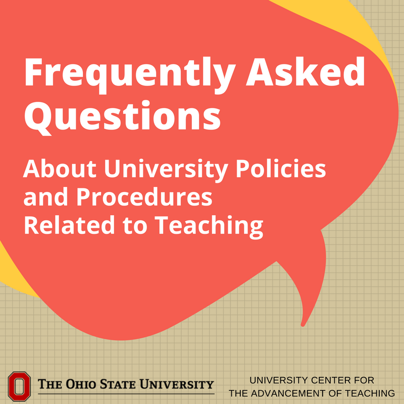 Do you have questions about University policies and procedures related to teaching? Visit UCAT's FAQ page to find answers, or help you find a place to start. https://t.co/44NtwsOghN