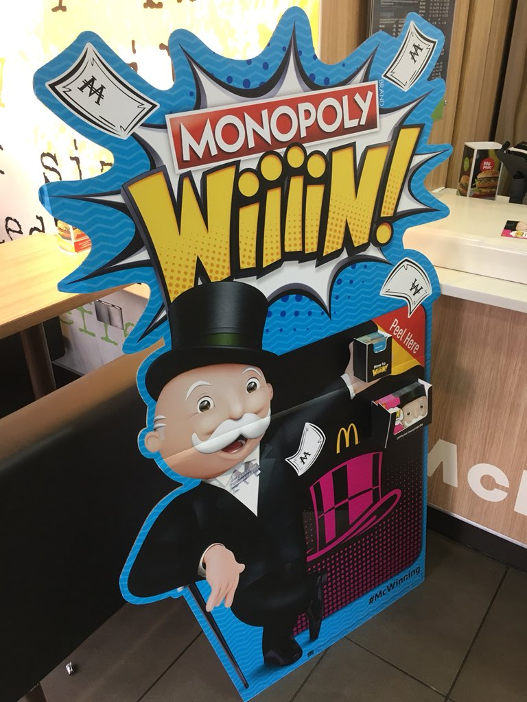Nah McDonalds monopoly is back! My week is made!!! https://t.co/WUi4fTrv7L