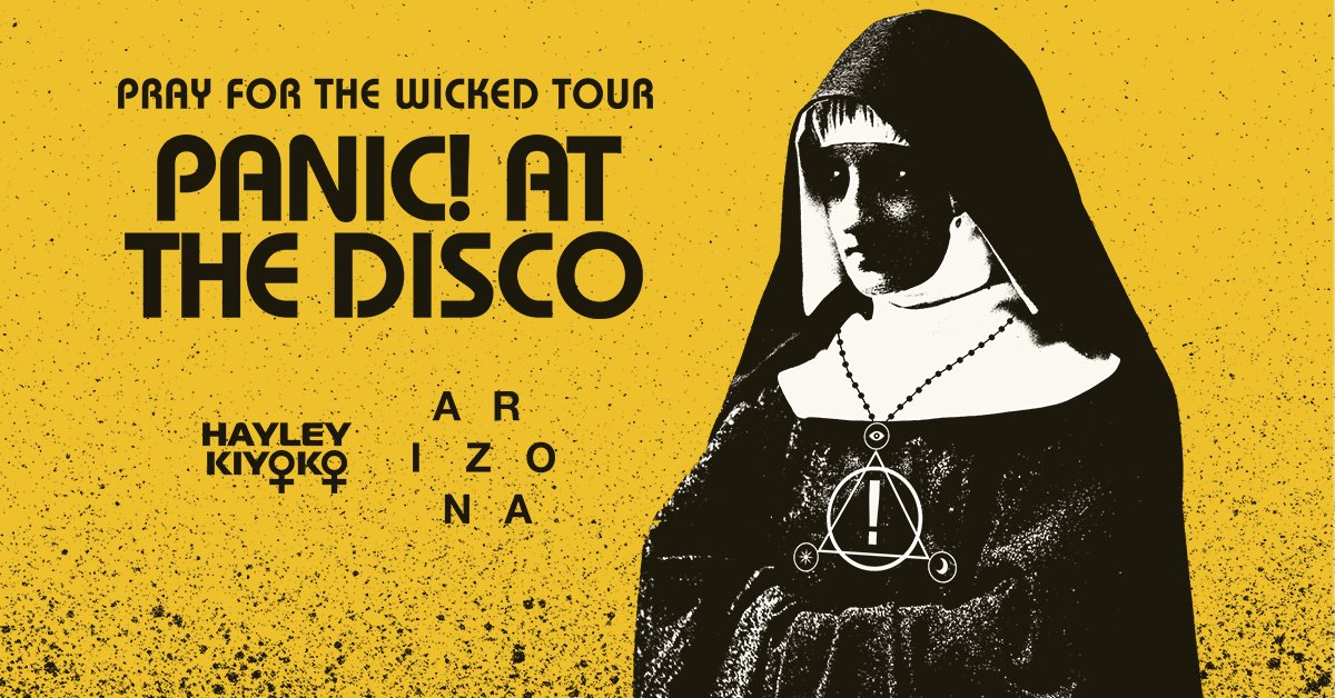 66063236 Come one, come all to the Pray For The Wicked Tour this summer with  @Arizona & @HayleyKiyoko https://panicatthedisco.com/tour  pic.twitter.com/hDdh30mdMJ