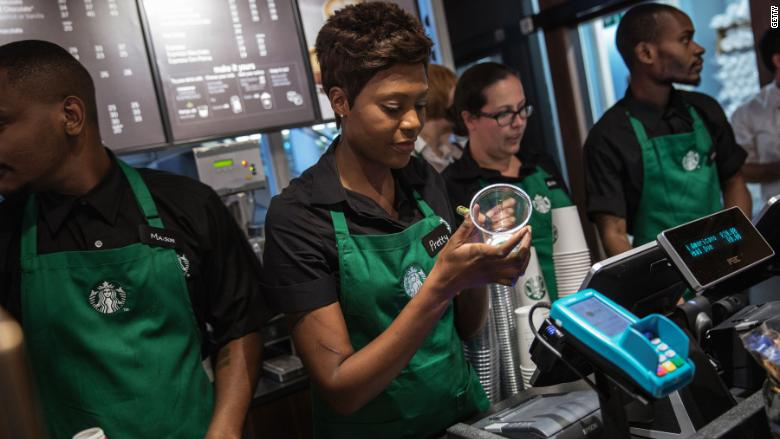 Starbucks has reached gender and race pay equity among all US employees who perform similar tasks, the company says https://t.co/6E0iLPch6r