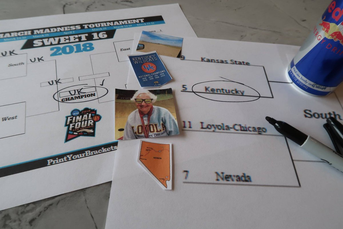 Some Wednesday Brow-ketology: Sorry Sister Jean… Kansas State.. and Nevada.. 8 championships > 0. See you in the Final Four #BBN! #MarchMadness