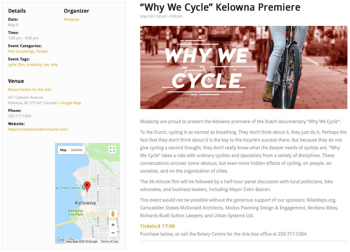 Modacity on twitter hey kelowna were teaming up with get em while they last httpsrotarycentrefortheartsevent why we cycle kelowna premiere picittert15bgmvas1 malvernweather Choice Image
