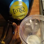 Lots of overly ripe bananas to use and the perfect @TORQfitness to mix it with = post session deliciousness. #TORQFuelled #torqfitness