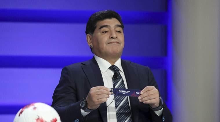 Maradona : «La France est une bonne équipe. Il y a des bons joueurs comme Pogba, mais elle n'est pas favorite pour le Mondial (...) Elle serait meilleure si elle récupérait Ribéry. Pour moi, l'Allemagne et l'Espagne sont les favoris.»