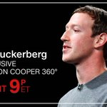 Facebook CEO Mark Zuckerberg will face questions in an exclusive TV interview with @LaurieSegallCNN that will air on @AC360 tonight, 9pET https://t.co/2iWXOl79mh