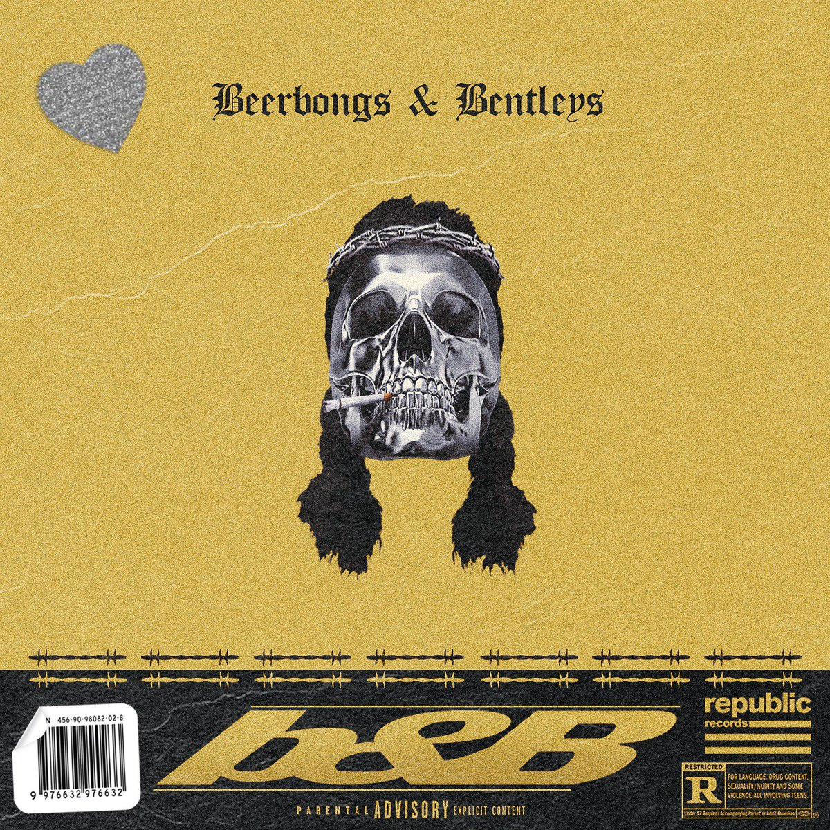 "highdemand™ on twitter: """"beerbongs & bentleys"" alternate cover"