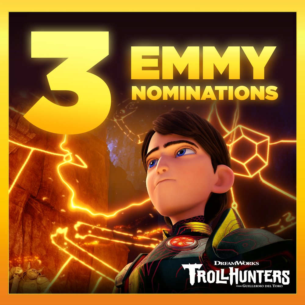 Help us congratulate #Trollhunters on it...