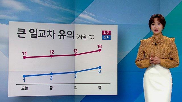 #날씨 한낮 맑고 기온 올라…낮 기온 서울 11도, 대구 12도 등. 당분간 비 소식 없고 점점 포근해질 것으로 예상. 다만 큰 일교차 유의. https://t.co/nclGHCrlpl