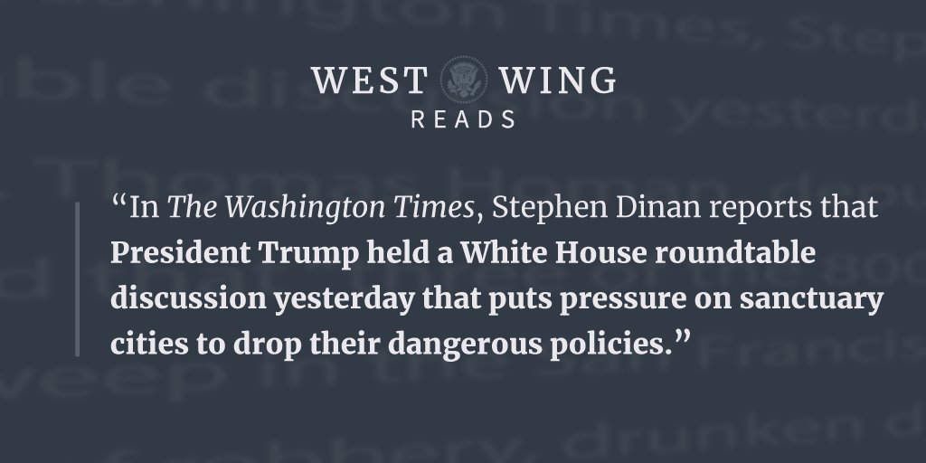 Check out tonight's edition of West Wing Reads: https://t.co/NhOnacDIgn https://t.co/NEQeiUW5uE