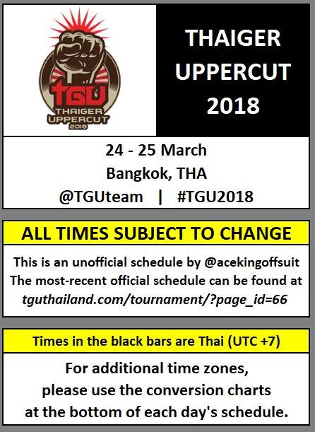 Acekingoffsuit On Twitter Please Rt Stream Schedule For Tgu2018
