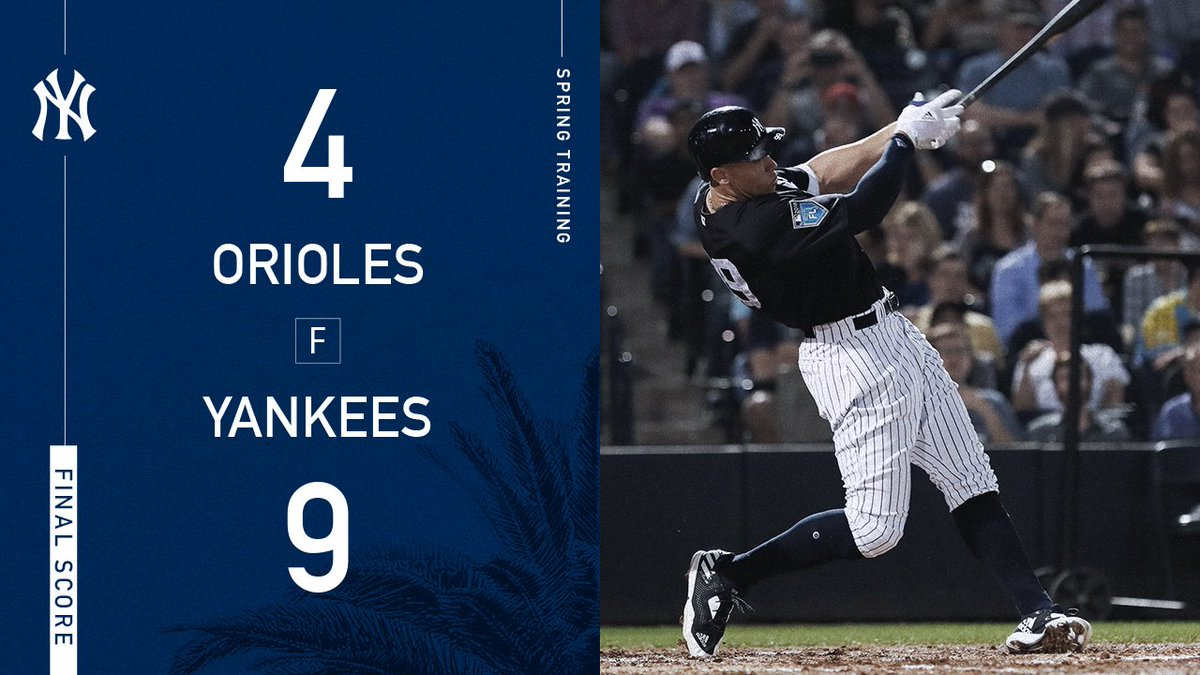 #StartSpreadingTheNews @TheJudge44 drops a flurry of homers in Tampa.