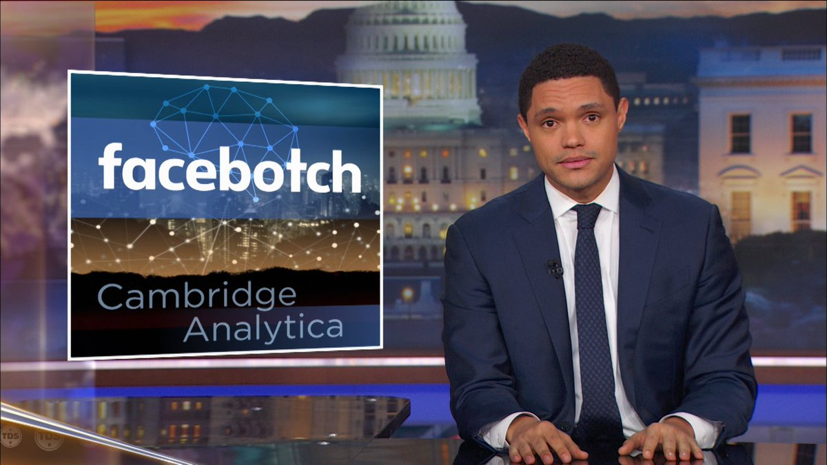 Trevor unpacks the story of Facebook and Cambridge Analytica, which sounds like a Harry Potter spell that does your homework.  Full episode: https://t.co/hqwYN5CbXy
