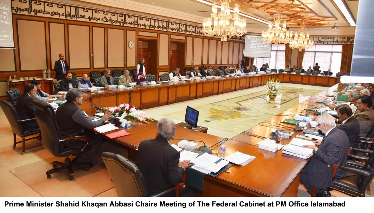 The Approval Was Given At Cabinet Meeting In Islamabad With Prime Minister  Shahid Khaqan Abbasi In The Chair.pic.twitter.com/oBiBPst861
