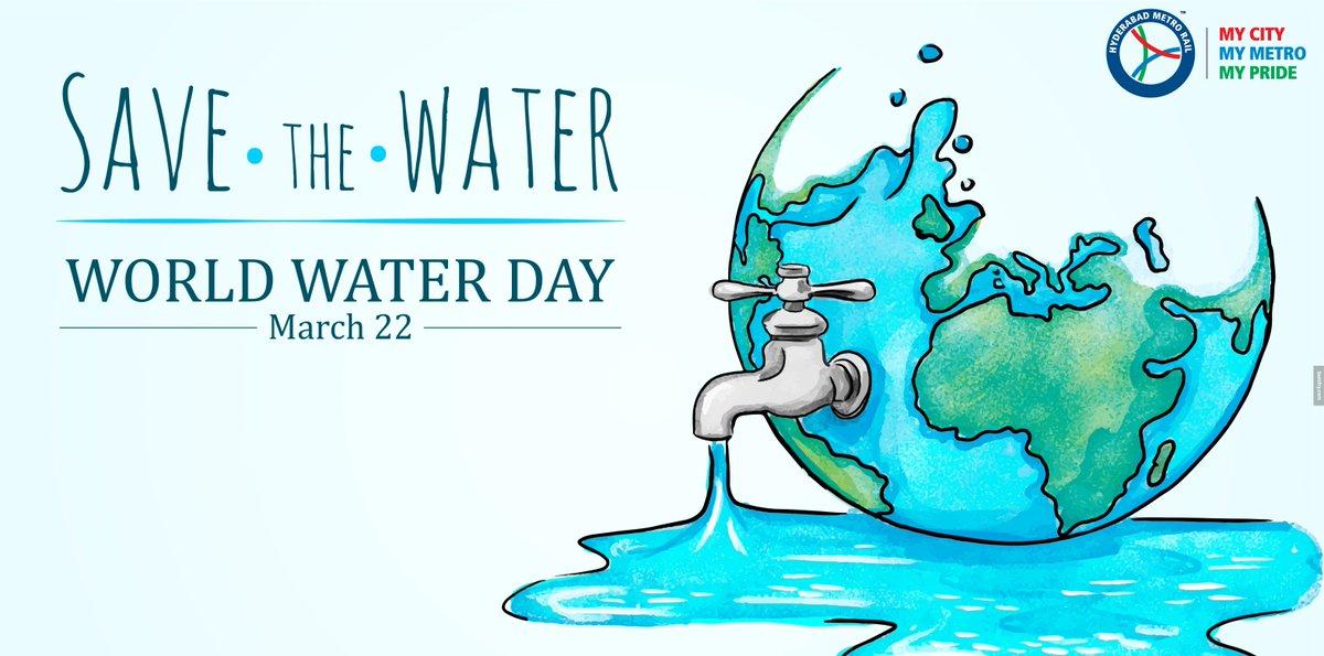 World Water Day #worldwaterday #social #marketing #travel #HydMetroRail #India #weekend #goGreen #pollution #Hyderabad #Telangana #business #travel #news #facts #mycity #mymetro