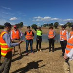 GBCMA Board receiving an on-site briefing from @GVWater on our partnership #integratedwatermanagement water quality offsets project - a first in Victoria thanks to @EPA_Victoria, @DELWP_Vic & @LisanevilleMP