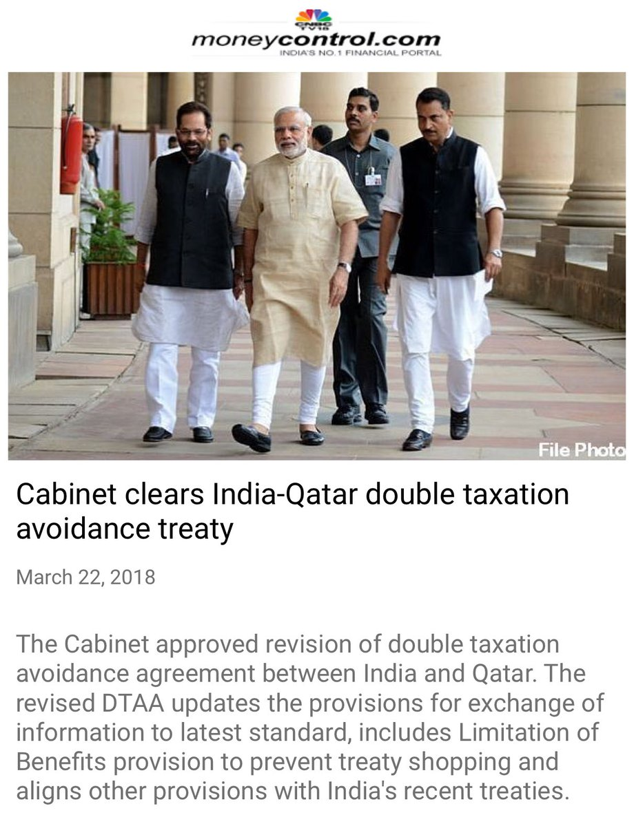Cabinet clears India-Qatar double taxati...