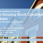 Join our free webinar 25th April - how to use our new online Housing Stock Condition Database https://t.co/dXgbyR8apy