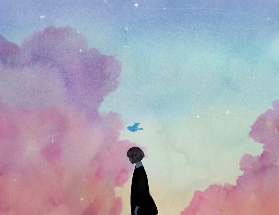 """Violett on Twitter: """"Lonely girls 🌸🌙 � #anime #aesthetic # ..."""