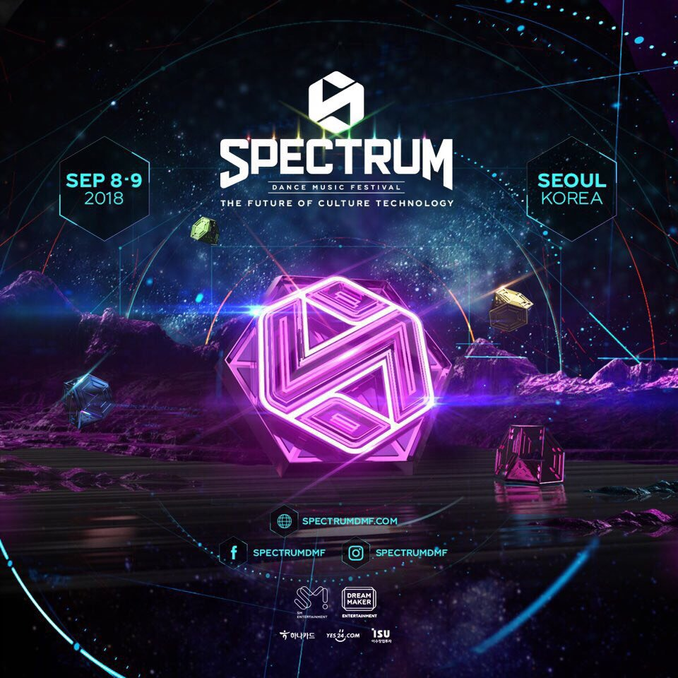 A large-scale music festival, '2018 Spectrum Dance Music Festival,' will be held on September 8 and 9. This year's theme will be about future and the festival will entertain people with combination of various IT technology, designs, and future elements. https://t.co/lT6fOcYuVm
