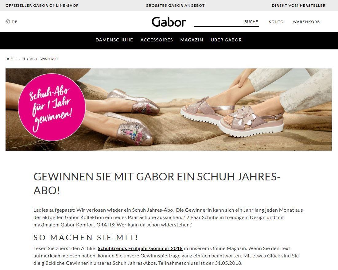 4593bc40224566 Mit  Gabor könnt ihr euch mit etwas Glück ein Jahr lang jeden Monat ein  neues Paar Schuhe aussuchen. http   gewinnspiele.de gewinnspiel l-406150 …  ...