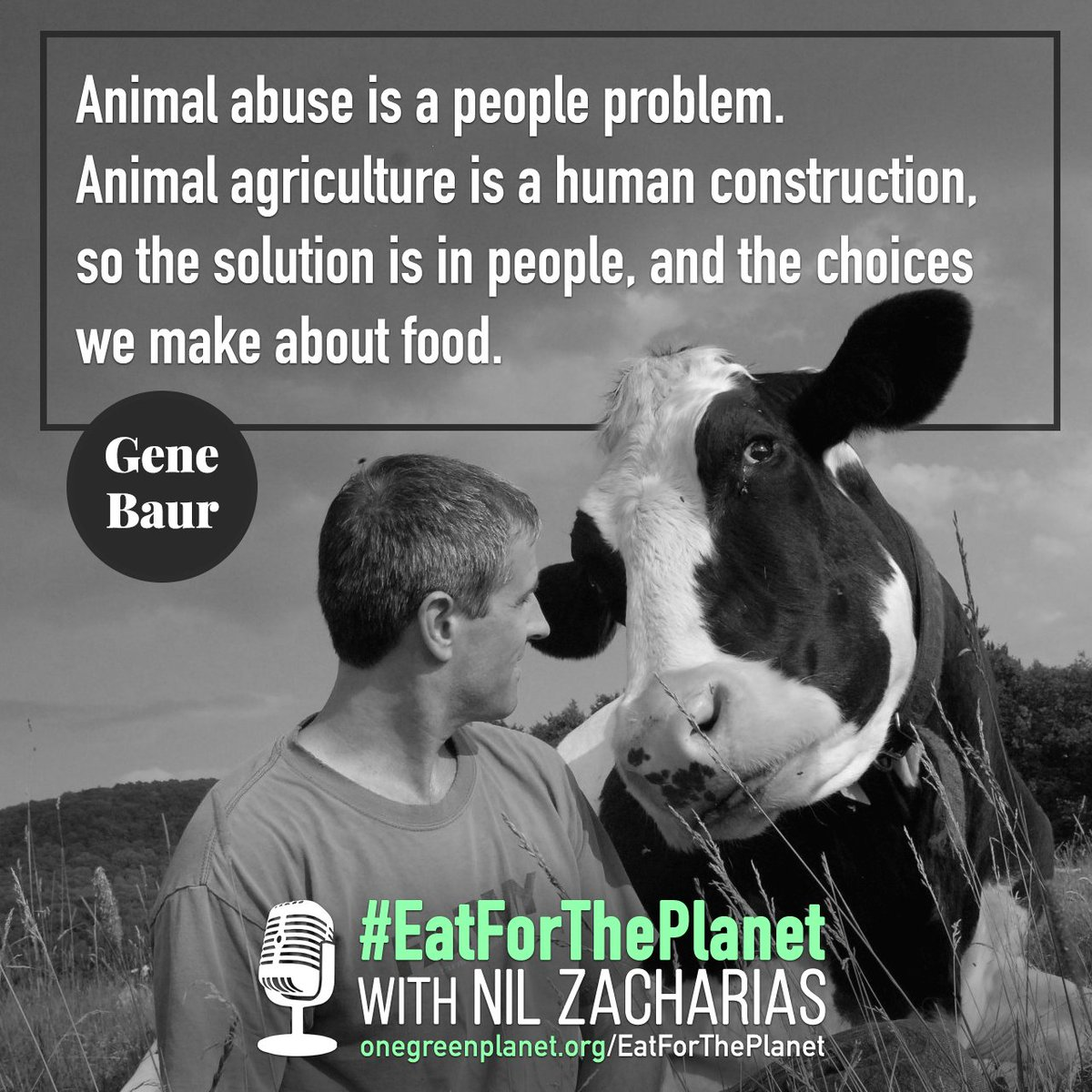 Gene Baur discusses how we can help people make more humane, just and #sustainable food choices by promoting localized, community-oriented agriculture https://t.co/BJUaEn96bi #EatForThePlanet #Vegan