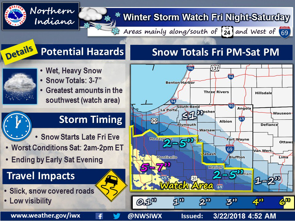Winter just WILL NOT go away, will it? More snow likely this weekend. Be on the lookout and don't put away your winter driving skills just yet. #INDOTWinterOps