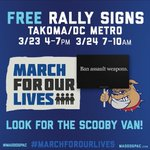 The Great Scooby Sign Give Away is tomorrow and Saturday before the #MarchForOurLives in DC. Come say Hey to Scoob and get your free sign.  https://t.co/KLRlVgzrUm