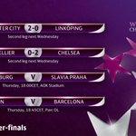Last night @ChelseaLFC and @ManCityWomen won their #UWCL first legs 👏👏  Tonight❓