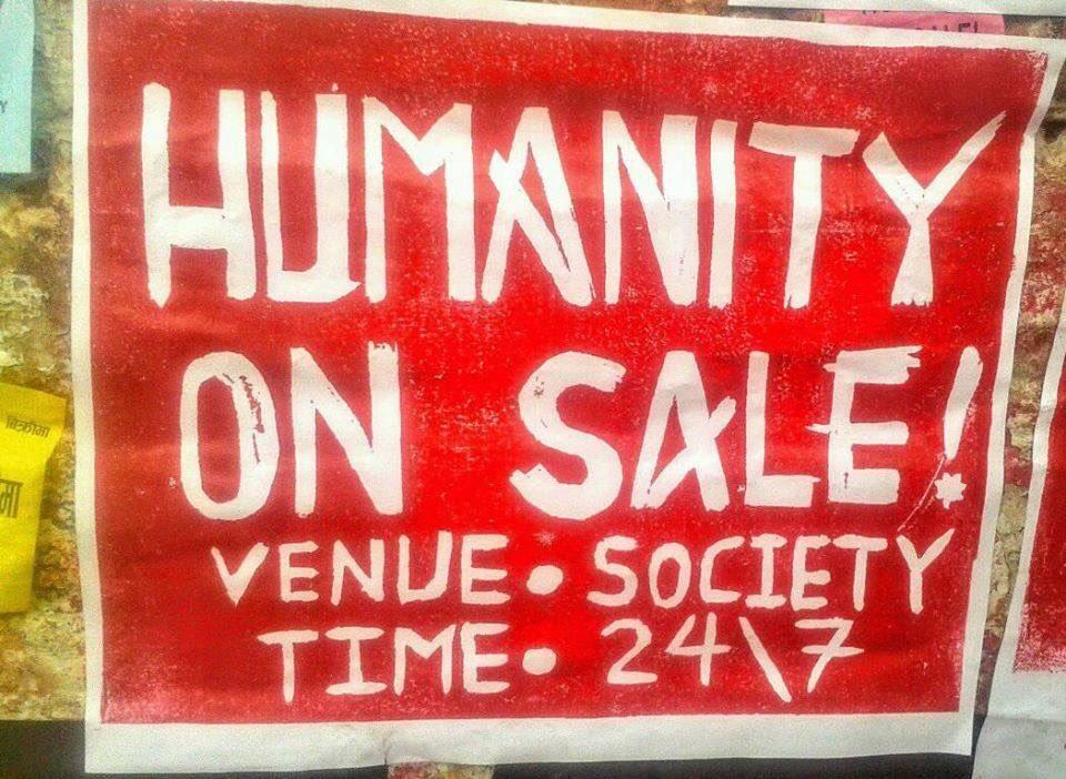 As seen on TU area, Kirtipur: Humanity on Sale :o #DeepMeaning   pic. Durga Bajagain <br>http://pic.twitter.com/KjTrH4foIt