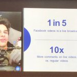 Live videos on #Facebook get 10x more comments than regular videos. #VidConEU