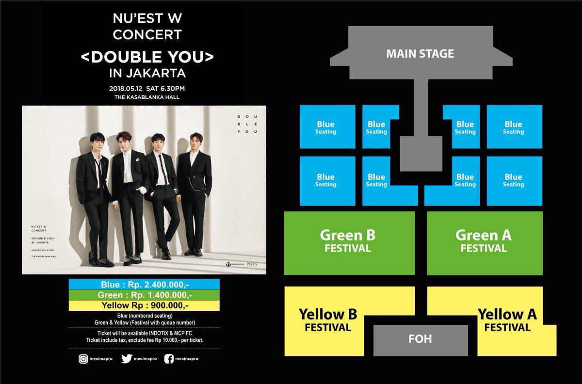 NUEST W Concert 'Double You' in Jakarta Mei 2018 saungkorea.com