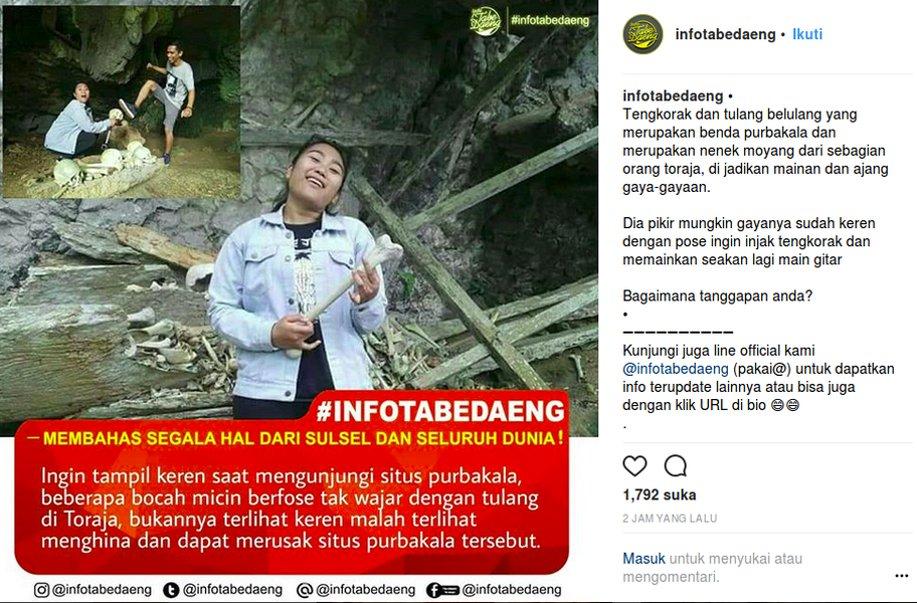 Soal Pose Wisatawan Melecehkan Makam Toraja: Tidak Bermoral https://t.co/xTdXqBkgEZ https://t.co/h9BbOp0UVh