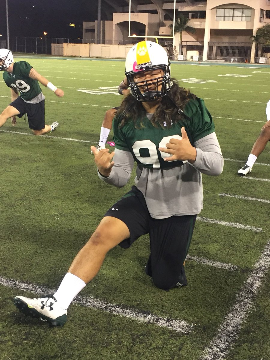 Back at it under Manoa Mist pre-dawn for #HawaiiFB spring practice #LiveAlohaPlayWarrior