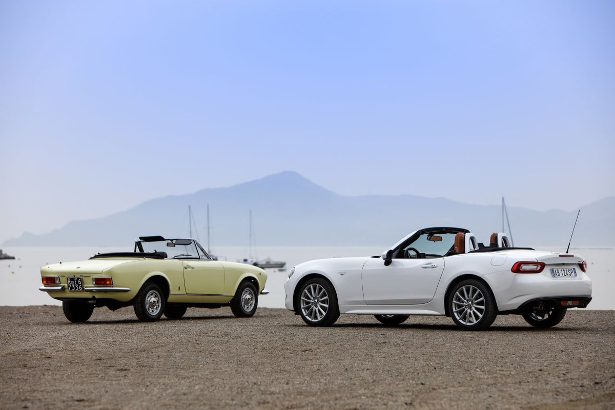 The Fiat 124 Spider. An icon, then and now. #Fiat #TBT https://t.co/QN3KYRTudf