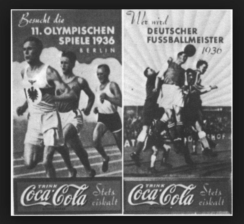Реклама Кока-кола на Олимпиаде 1936 года