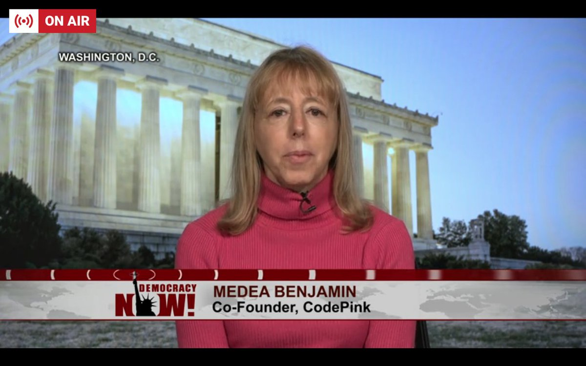 Medea Benjamin of @codepink on the Senate vote against ending U.S. support for the war in Yemen: 'I think it's horrific that 10 Democrats defected and voted for this and that so many, almost all, of the Republicans have shown themselves to be the 'war party'' #DNlive