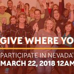 Image for the Tweet beginning: Nevada's Big Give is underway!