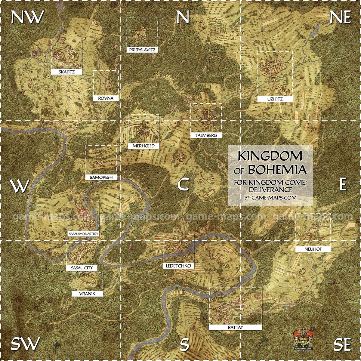 Kingdom Come Deliverance World Map Open World on Twitter: