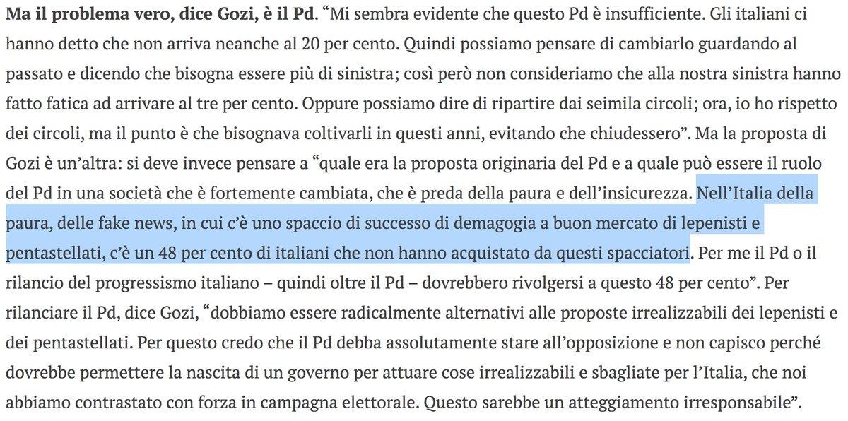 """Questo è ciò che pensa il sottosegretario alla PdC e membro del #PD #Gozi su chi ha votato #Lega e #M5S: dei drogati di demagogia che si sono fatti abbindolare da spacciatori. Quello che osannava il #FiscalCompact e lo ha rinnegato dopo """"solo"""" 5 anni  https:// www.ilfoglio.it/politica/2018/03/22/news/per-superare-il-pd-serve-una-en-marche-europea-parla-gozi-185423/  - Ukustom"""