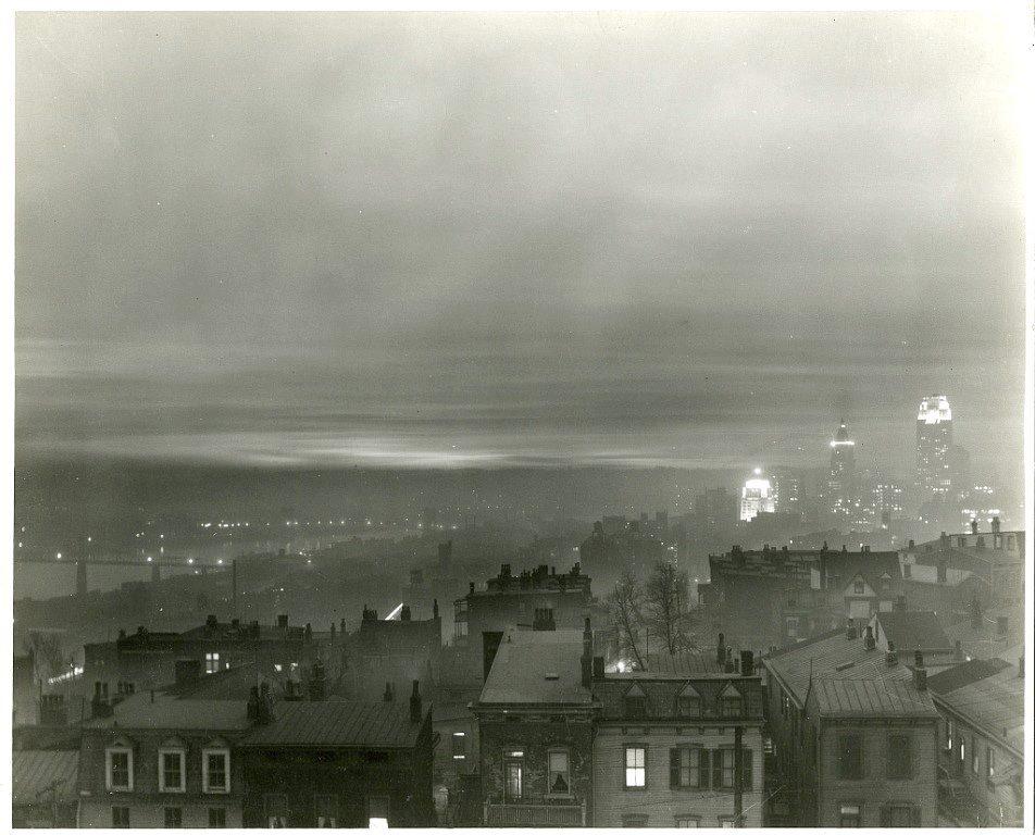 #Cincinnati viewed from Mt. Adams, c. 19...